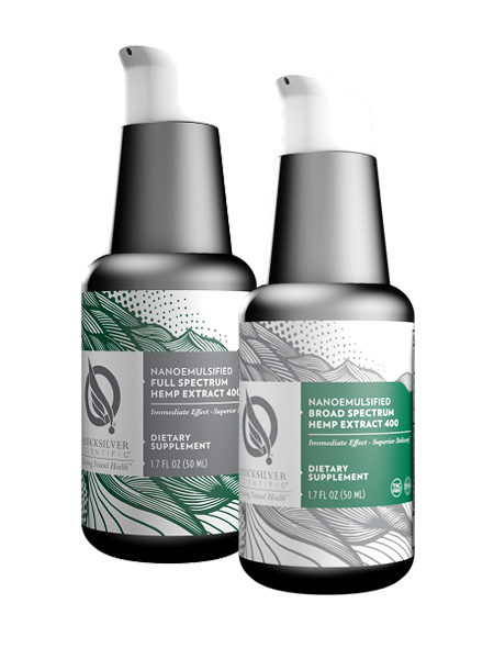 Purchase Quicksilver Scientific Nanosemulsified Broad and Full Spectrum Hemp Extract